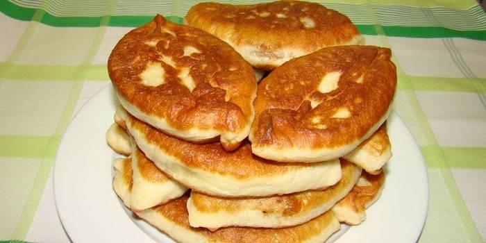 кулинарный рецепт как приготовить бездрожжевое тесто пирожки