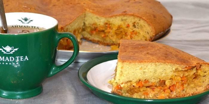 кулинарный рецепт как приготовить бездрожжевое тесто пирог с капустой