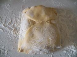 кулинарный рецепт как приготовить слоеное тесто Шаг 13.