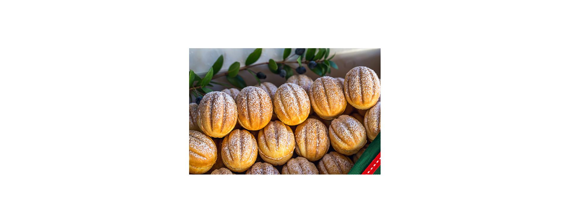 Печенье орешки со сгущенкой классический кулинарный рецепт в орешнице